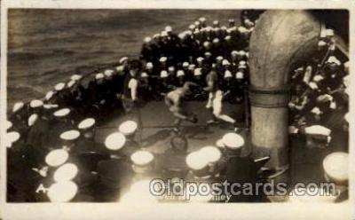 shi015057 - U.S.S. Frederick Military Ship Real Photo Ships Postcard Postcards
