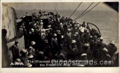 shi015058 - U.S.S. Frederick Military Ship Real Photo Ships Postcard Postcards