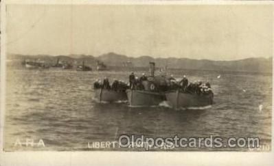 shi015060 - U.S.S. Frederick Military Ship Real Photo Ships Postcard Postcards