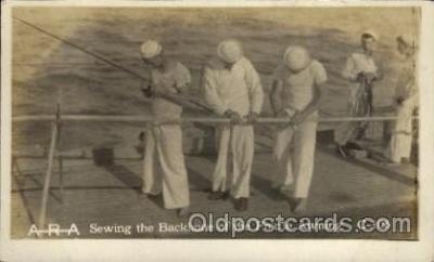 shi015063 - U.S.S. Frederick Military Ship Real Photo Ships Postcard Postcards