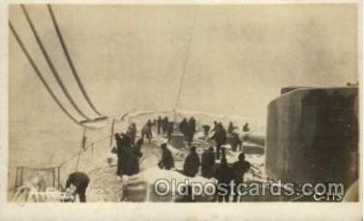 shi015068 - U.S.S. Frederick Military Ship Real Photo Ships Postcard Postcards