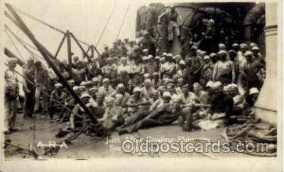 shi015071 - U.S.S. Frederick Military Ship Real Photo Ships Postcard Postcards