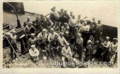 shi015072 - U.S.S. Frederick Military Ship Real Photo Ships Postcard Postcards