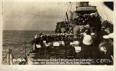 shi015077 - U.S.S. Frederick Military Ship Real Photo Ships Postcard Postcards