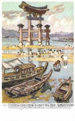 shi017083 - Torii or Shrine Gate at Miyajima Osaka Shosen Kaisha Postcard Postcards
