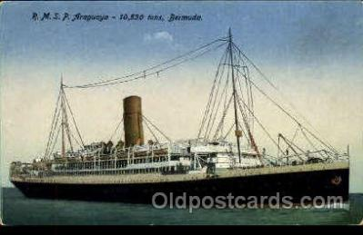shi018005 - R.M.S.P. Araguaya, Bermuda, The Royal Mail Steam Packet Co, Ship Ships Postcard Postcards