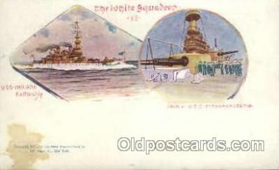 shi019003 - U.S.S. Indiana Battleship, Deck of U.S.S. Massachusetts, Ship Ships Postcard Postcards
