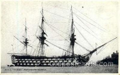shi020021 - HMS Victory Portsmouth Harbor Sail Ship Ships Postcard Postcards