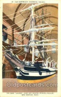 shi020076 - The Bark Lagoda, New Bedford, Massachusetts, USA Sail Boat, Boats, Postcard Postcards