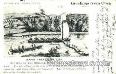shi020085 - Rapid transit, the mohawk river Sail Boat, Boats, Postcard Postcards