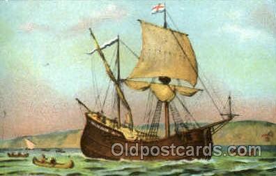 shi020088 - The haft moon Sail Boat, Boats, Postcard Postcards