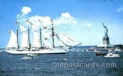 shi020093 - Operation Sail, Esmeralda, New York City Sail Boat, Boats, Postcard Postcards