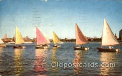 Sailing on the charles river, Boston, Massachusettss, USA