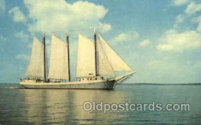 shi020122 - Windjammer, Maine, USA Sail Boat, Boats, Postcard Postcards