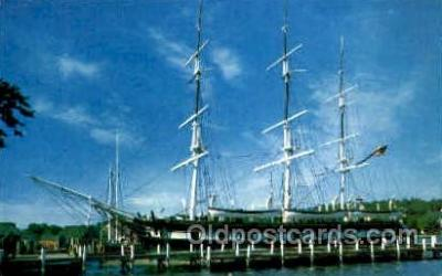 shi020123 - Mystic Seaport Sail Boat, Boats, Postcard Postcards