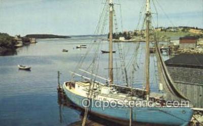 shi020156 - Fishing Schooner Nova Scotia Sail Boats, Sailing, Ship Postcard Postcards