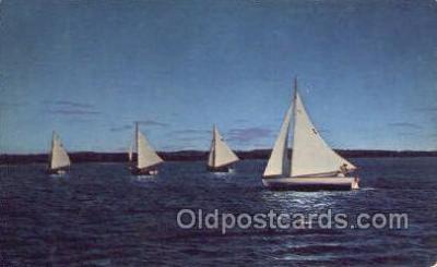 shi020181 - Puget Sound Sail Boats, Sailing, Ship Postcard Postcards