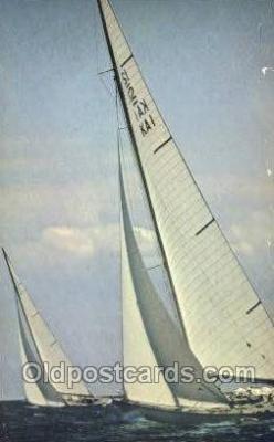 shi020209 - Americas Cup Of Yachts Off Newport RI Sail Boats, Sailing, Ship Postcard Postcards