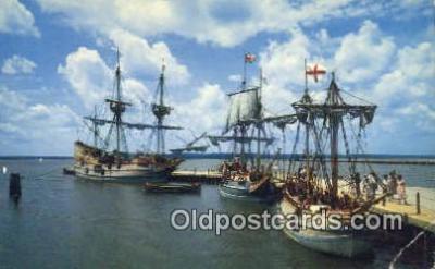 shi020276 - Jamestown, Virginia, VA USA Sail Boat Postcard Post Card