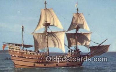 shi020277 - Mayflower II Sail Boat Postcard Post Card