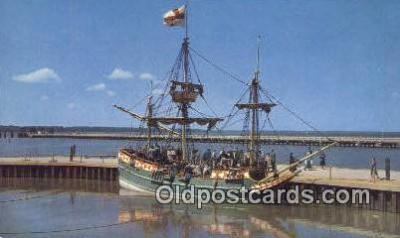 shi020284 - The God Speed, Jamestown, Virginia, VA USA Sail Boat Postcard Post Card