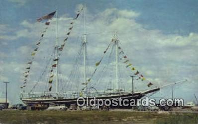 shi020288 - The Schooner Lucy Evelyn, Beach Haven, New Jersey, NJ USA Sail Boat Postcard Post Card