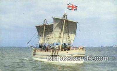 shi020289 - Discovery II , Jamestown, Virginia, VA USA Sail Boat Postcard Post Card