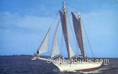 shi020292 - Windjammer Mary DAY, Sedgwick, Maine, ME USA Sail Boat Postcard Post Card