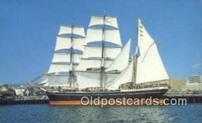 shi020298 - The Star Of India, San Diego, California, CA USA Sail Boat Postcard Post Card