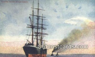 shi020335 - Towing On The Great Lakes Sail Boat Postcard Post Card