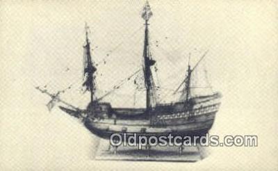 shi020337 - Model Of The Mayflower, Southampton, England Sail Boat Postcard Post Card