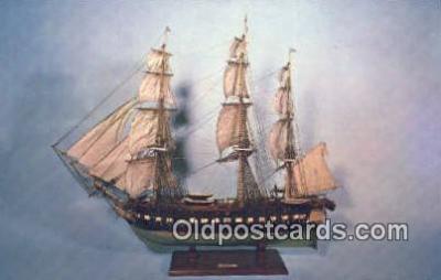 shi020349 - Model Frigate Constitution, Philadelphia, Pennsylvania, PA USA Sail Boat Postcard Post Card
