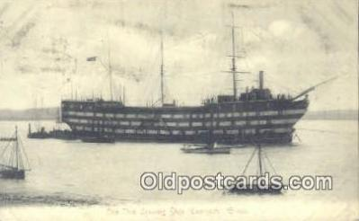 shi020351 - The New Training Ship Exmouth Sail Boat Postcard Post Card
