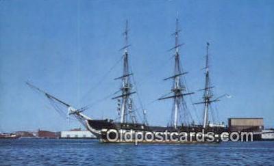 shi020356 - USF Constitution, Boston, Massachusetts, MA USA Sail Boat Postcard Post Card