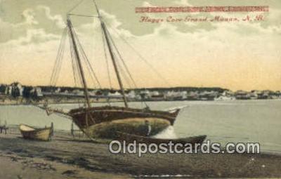 shi020360 - Flagg's Cove Grand Manan, NB  Sail Boat Postcard Post Card