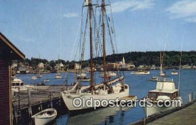 shi020364 - The Bowdoin, Boothbay Harbor, Maine, ME USA Sail Boat Postcard Post Card