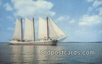 shi020373 - Windjammer Off The Coast OF Maine, ME USA Sail Boat Postcard Post Card