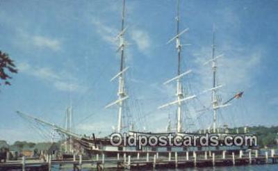 shi020396 - Mystic Seaport, Mystic Connecticut, CT USA Sail Boat Postcard Post Card