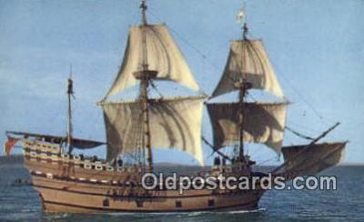 shi020399 - The Mayflower II, Plymouth, Massachusetts, MA USA Sail Boat Postcard Post Card