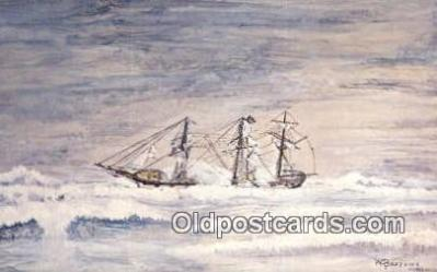 shi020403 - Wrecked Strathblane, England Sail Boat Postcard Post Card