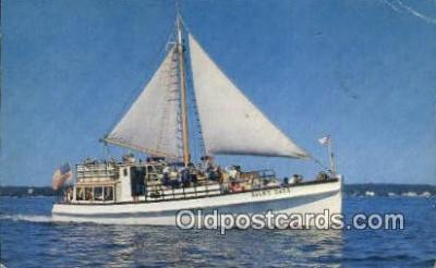 shi020406 - Deep Sea Motor Vessel, Boothbay, Maine, ME USA Sail Boat Postcard Post Card