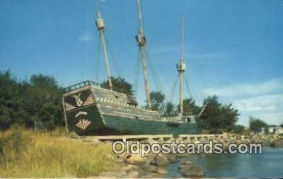 shi020407 - The Arbella, Governor Winthrop's Flagship, Pioneer Village, Salem, Massachusetts, MA USA Sail Boat Postcard Post Card
