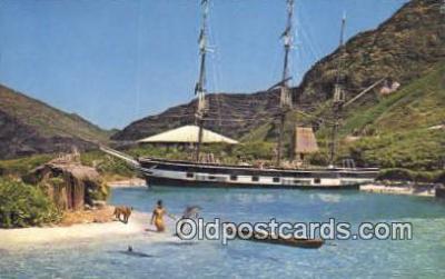shi020423 - Sea Life Park, Makapuu, Oahu, USA Sail Boat Postcard Post Card