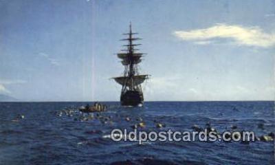 shi020428 - The Bounty  Sail Boat Postcard Post Card