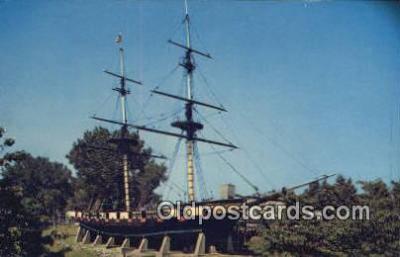 shi020448 - The Flagship Niagara, Erie, Pennsylvania, PA USA Sail Boat Postcard Post Card