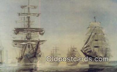 shi020456 - International Tall Ship, Newport Harbor, Blue Nose, Canada Sail Boat Postcard Post Card