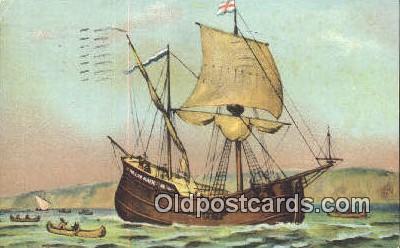 shi020463 - Half Moon, New York Harbor, New York, NY USA Sail Boat Postcard Post Card