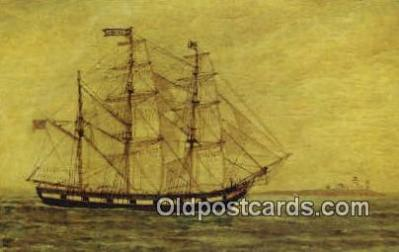 shi020471 - The Bark Emerald, Salem, Massachusetts, MA USA Sail Boat Postcard Post Card