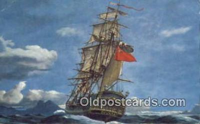 shi020473 - H.M.S Bounty Sail Boat Postcard Post Card
