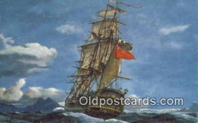 shi020491 - H.M.S Bounty Sail Boat Postcard Post Card